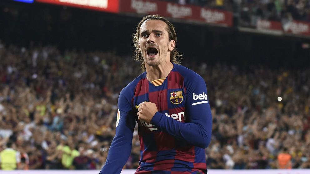 Griezmann celebra un gol. (AFP)