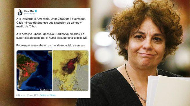 La podemita Elizo no sabe dónde está China: confunde su contaminación con… ¡los incendios en Siberia!