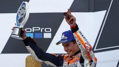 Marc Márquez acabó segundo en Silverstone. (AFP)