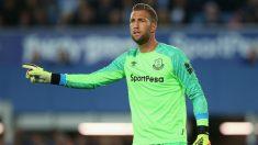 Maarten Stekelenburg, en un partido con el Everton. (Getty)