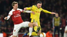 Nacho Monreal en un partido con el Arsenal (AFP)