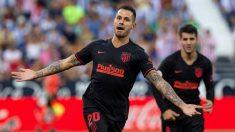 Vitolo celebra su gol ante el Leganés (EFE)