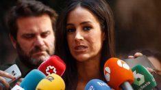 La vicealcaldesa de Madrid y dirigente de Ciudadanos, Begoña Villacís, se dirige a los medios de comunicación. Foto: EP
