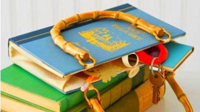 Pasos para hacer un bolso con un libro