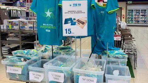 Camisetas para la Diada en Bon Preu. Fuente: Twitter.