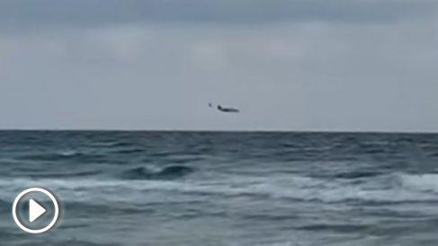 Momento del accidente del C-101 en La Manga.