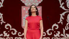 La presidenta de la Comunidad de Madrid, Isabel Díaz Ayuso, el día del debate de investidura en la Asamblea de Madrid. Foto: EP