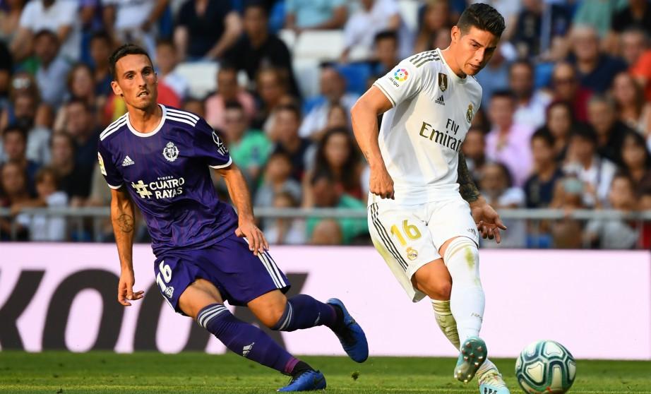 James fue titular ante el Valladolid. (AFP)