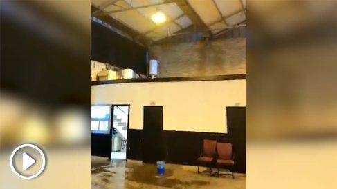 Varias instalaciones de la Policía Municipal inundadas tras la tromba de agua. Fuente: CCPM