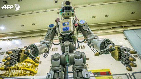 El androide ruso 'Fedor' que operará en la Estación Espacial.