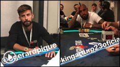 Gerard Piqué y Arturo Vidal, en el torneo de PokerStars en Barcelona.