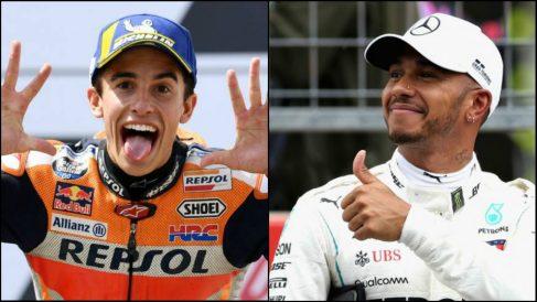 Marc Márquez quiere enfrentarse a Lewis Hamilton en un cara a cara.