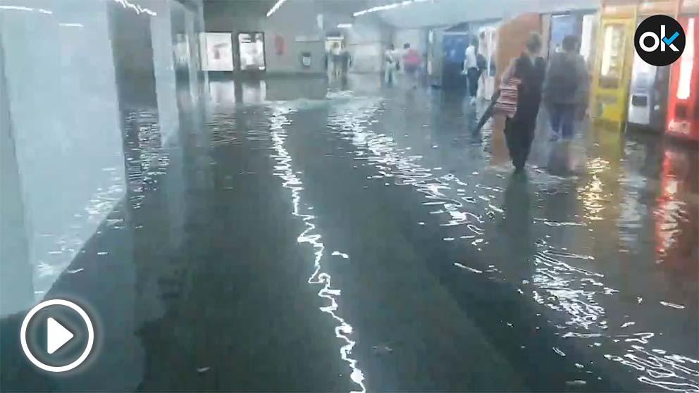 Inundaciones en el metro de Barcelona
