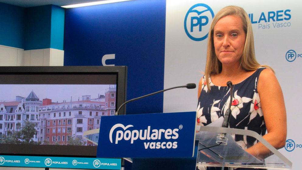 La secretaria general del PP vasco, Amaya Fernández. Foto: EP