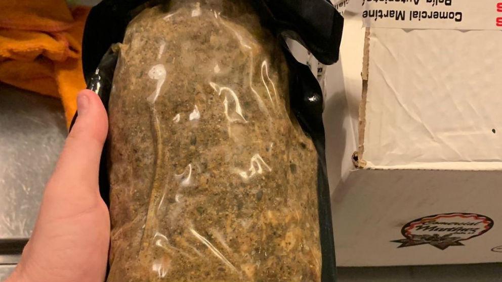 Una muestra de carne mechada contaminada con listeria.