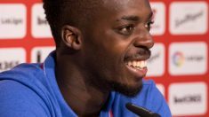 Iñaki Williams, jugador del Athletic, en rueda de prensa (Athletic Club)