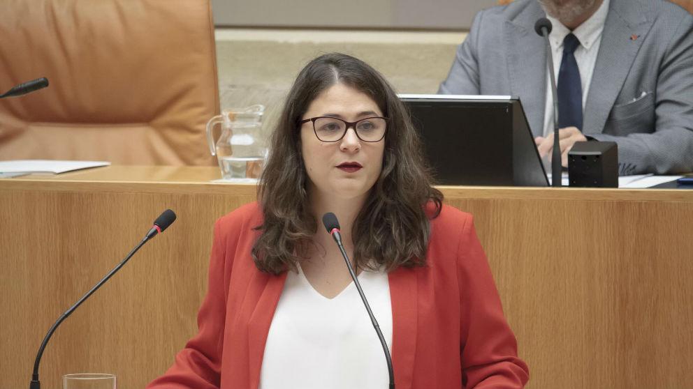 La consejera de Igualdad y diputada de Podemos en La Rioja, Raquel Romero. (Foto: EP)