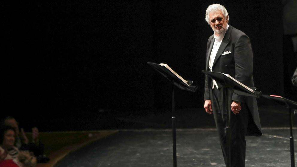 Plácido Domingo en su actuación de Salzburgo.