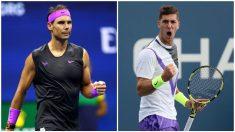 Rafael Nadal y Thanasi Kokkinakis.