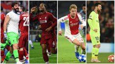 Alisson, Van Dijk, De Jong y Messi.