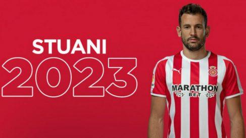 Cristhian Stuani renueva con el Girona (Girona Fútbol Club)
