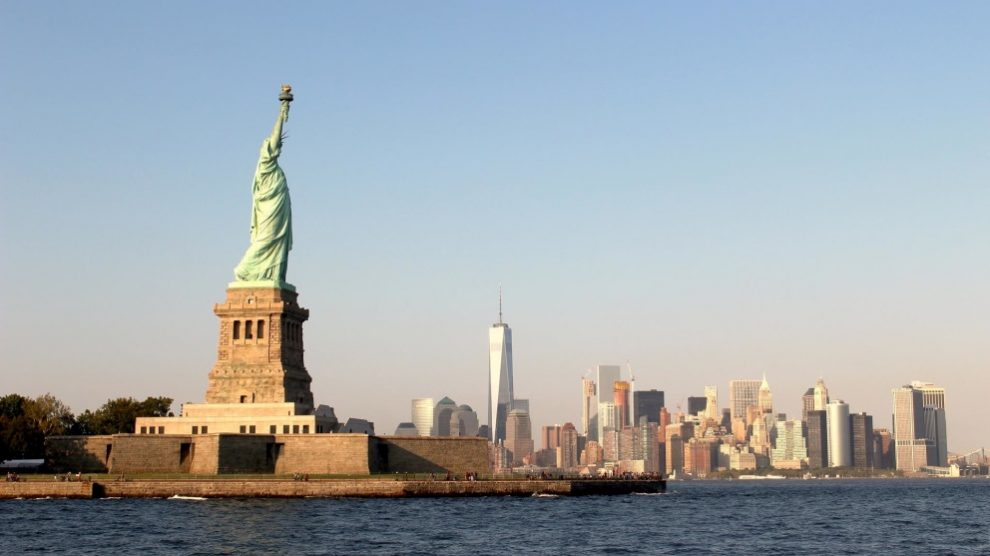 La famosa Estatua de la Libertad fue un regalo de Francia a Estados Unidos