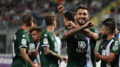 Ferreyra celebra un gol del Espanyol.