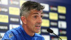 Imanol Alguacil, técnico de la Real Sociedad en rueda de prensa (@RealSociedad)