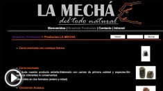 La página web de la empresa Magrudis, que comercializa la marca 'La Mechá', cuyo lote de carne ha originado un brote de listeriosis.