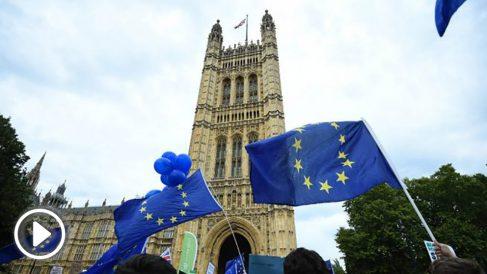 Manifestación contra la decisión de Boris Johnson de suspender el Parlamento.