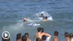 Persecución en el agua en Barcelona.