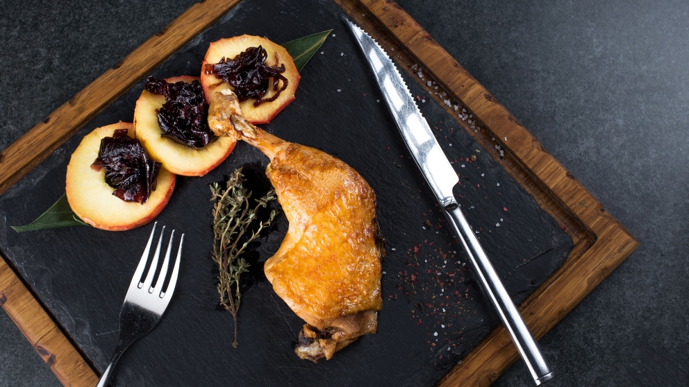 Receta de pato caramelizado con salsa de pomelo