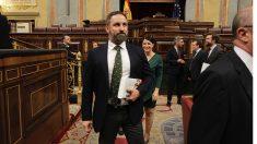 Santiago Abascal en el Congreso de los Diputados. (Foto: Francisco Toledo)