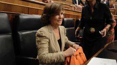 Carmen Calvo en el Congreso de los Diputados. (Foto: Francisco Toledo)