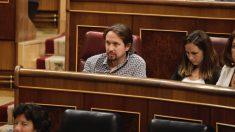 Pablo Iglesias en el Congreso de los Diputados. (Foto: Francisco Toledo)
