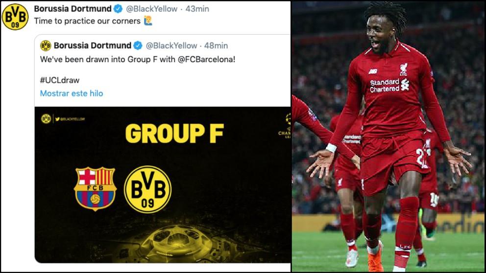 El Borussia Dortmund trolea al Barça con los córners.