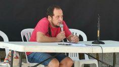 David Fernández, ex diputado de la CUP, en la Universidad de Verano de Anticapitalistas. (Foto: @anticapi vía Twitter)