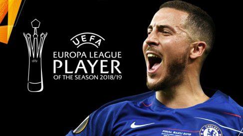 Eden Hazard, mejor jugador de la Europa League la pasada temporada. (Foto: UEFA)