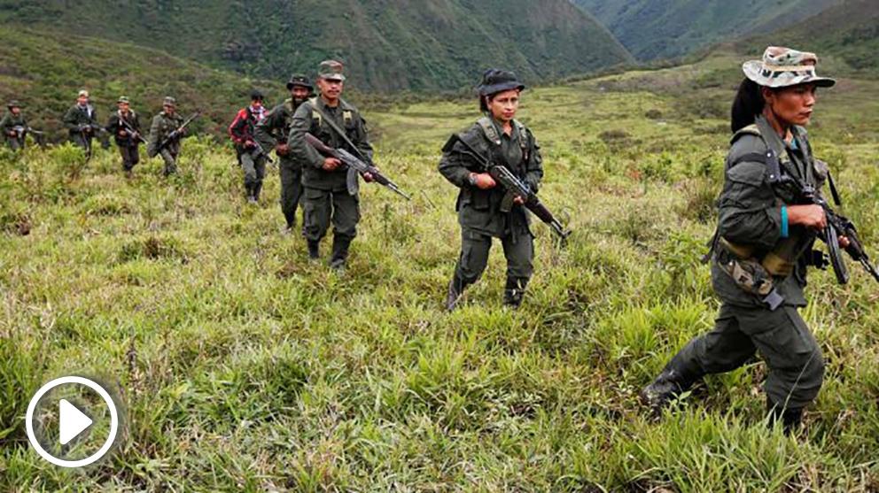 Miembros armados del Frente 51 de las FARC (Foto: Reuters)