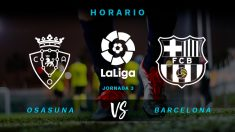 Osasuna – Barcelona: partido de la jornada 3 de la Liga Santander.