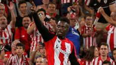 Iñaki Williams celebra su gol ante la Real Sociedad (EFE