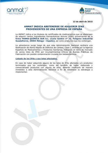Argentina prohibió en 2015 la distribución de medicamentos de la farmacéutica del brote de los 'niños lobo'