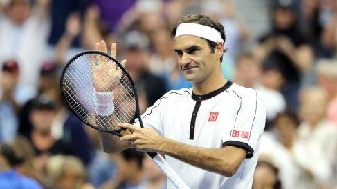 Roger Federer, durante un partido del US Open 2019 (Getty).