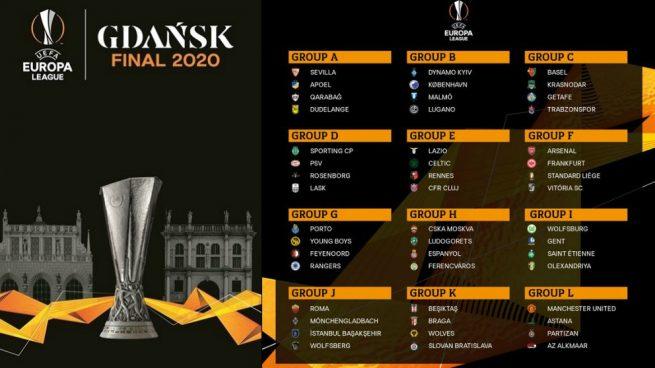 Sevilla, Espanyol y Getafe ya conocen a sus rivales en la Europa League