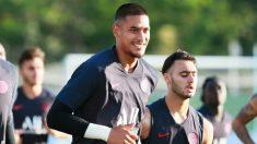 Areola, en un entrenamiento del PSG (AFP).