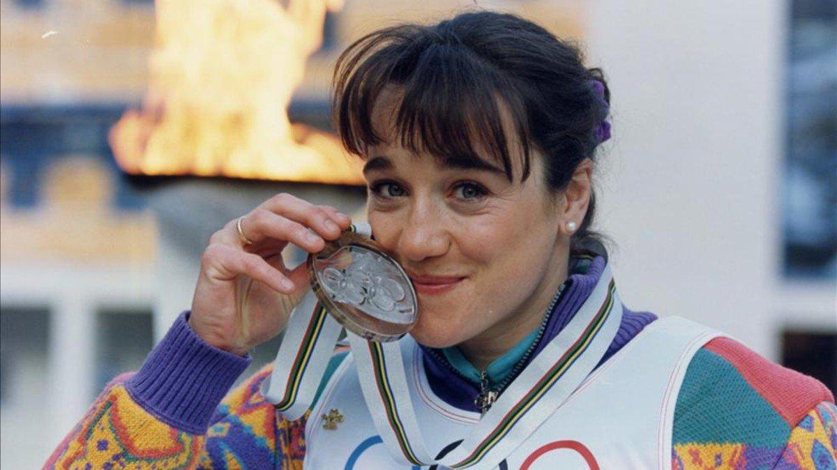 Blanca Fernández Ochoa se colgó la medalla de bronce. (Foto: RFEDEI)