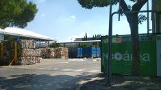 La planta ilegal de residuos que el equipo de Manuela Carmena inauguró en el verano de 2017 en Mercamadrid.