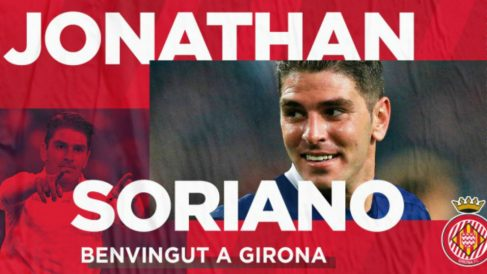 Jonathan Soriano, nuevo fichaje del Girona (Girona Fútbol Club)
