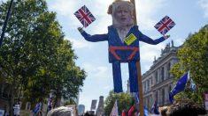 Manifestación en Londres contra la decisión de Boris Johnson de suspender el Parlamento.