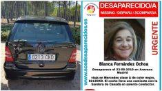 El coche en el que desapareció Blanca Fernández Ochoa.